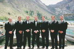 groomsmen in tuxedos // onelove photography