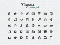 Top 50 Free Mini Icon Sets