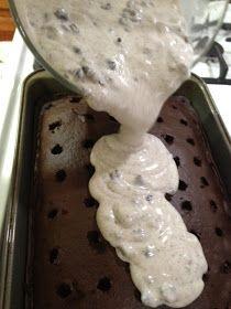 No Sun, No Power, No Problem!: Oreo Pudding Poke Cake