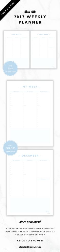 2017 DAILY PLANNER / A4 Daily Planner / A5 Daily Planner / 2017 - daily calendar printable