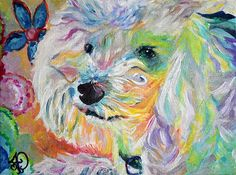 DOG PORTRAIT PAINTING original oil on canvas by AudreyPetPortraits