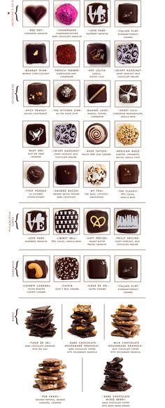 Artisanal Chocolates by Marcie Blaine, Philadelphia.