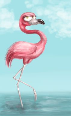 flamingo by aravana on DeviantArt