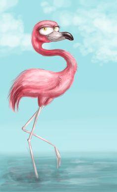 flamingo by aravana on DeviantArt
