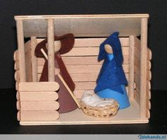 Pin by Cheryl Noddin Faubert on Popsicle sticks Christmas Decorations For Kids, Christmas Activities, Kids Christmas, Christmas Crafts, Christmas Ornaments, Nativity Ornaments, Christmas Nativity Scene, Nativity Crafts, Bible Crafts For Kids