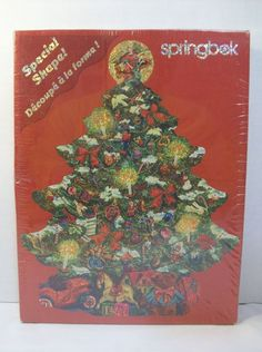 Springbok Puzzle Sparkling Tree Christmas 500 Pieces Glitter 2000 New Unopened  #Springbok