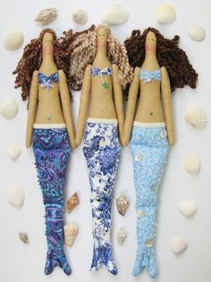 HappyDollsByLesya  Like a Tilda mermaid!