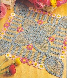 Receitas de Crochet: Quadrado em flor