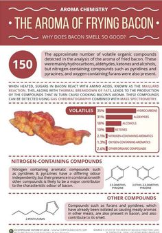This Just In:  Bacon Smells Delicious.  Here's the Science of Why!  Aroma Chemistry! The Aroma of Bacon!