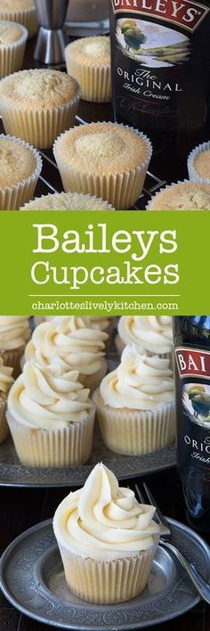 These Baileys cupcakes are so simple to make there's really no excuse not to. Perfect topped with Baileys buttercream and perhaps a hidden Baileys truffle centre too! Cupcake Recipes, Baking Recipes, Cupcake Cakes, Dessert Recipes, Bailey Truffles, Bailey Cupcakes, Just Desserts, Delicious Desserts, Baileys Recipes