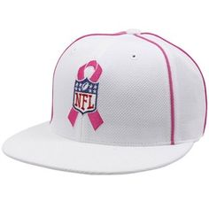 reebok nfl NFL Pink Ribbon Breast Cancer Awareness Referee Fitted Hat reebok  nfl jerseys Breast Cancer 8ab8fe47e