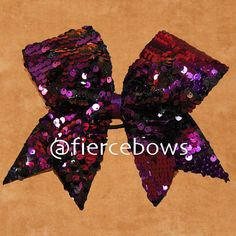 af597bbac6 Items similar to Purple and Black Reversible Sequin Cheer Bow on Etsy