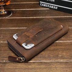 Genuine Leather Vintage Coin Bag Business Zipper Long Inche Phone Wallet For Men is hot-sale, many other cheap clutch bags on sale for men are provided on NewChic Mobile. Phone Wallet, Clutch Wallet, Leather Wallet, Leather Bag, Phone Case, Cuir Vintage, Coin Bag, Cow Leather, Bag Sale