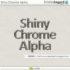 Quality DigiScrap Freebies: Shiny Chrome alpha freebie from Kristin Aagard…
