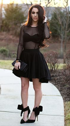 Black dress for a special occasion