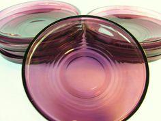 Vintage Purple Depression Glass Plates