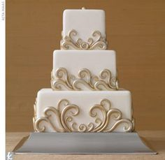 Old Hollywood wedding cake