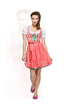 Wiesn mini dirndl dress 3pcs. Joy flamingo 50cm