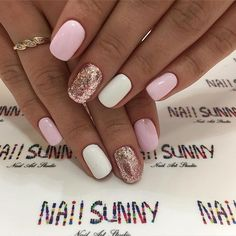 <img> 47 Gorgeous Nail Art With Glitter Polish – Glitter Nails , nail art ideas - Nails Ideias, Summer Gel Nails, Prego, Best Acrylic Nails, Pretty Nail Art, Glitter Nail Art, Powder Nails, Stylish Nails, Gorgeous Nails