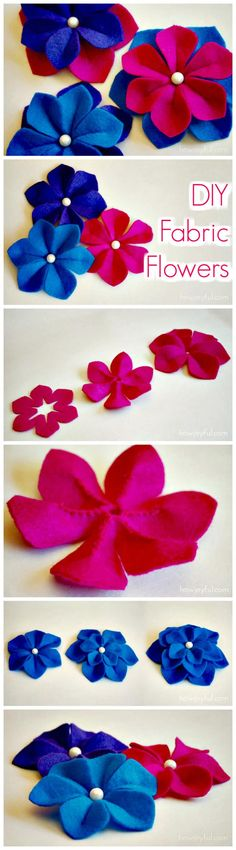 50 Easy Fabric Flowers Tutorial - Make Your Own Fabric Flowers - Page 4 of 10 - DIY & Crafts