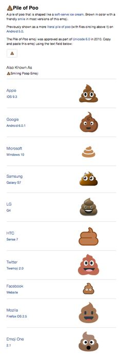 Pile of Poo emoji across devices!! http://emojipedia.org/pile-of-poo/