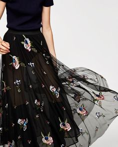 Image 2 of EMBROIDERED TULLE SKIRT from Zara