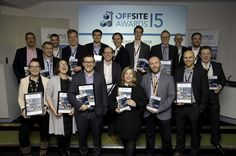 Group Shot! Our Technical Manager Thomas Elliott alongside the other deserving winners at the Offsite Awards - Dec 2015