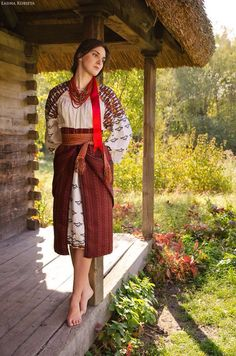 Ukraine, from Iryna Ukraine Women, Ukraine Girls, Folk Fashion, Ethnic Fashion, Ukrainian Dress, Ethno Style, Costumes Around The World, Barefoot Girls, Folk Costume