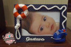Porta Retrato Marinheiro Mod.3 Navy Birthday, Baby Boy Birthday, Sailor Baby Showers, Baby Boy Shower, Nautical Party, Nautical Nursery, Sailor Theme, Baby Shawer, Valentino
