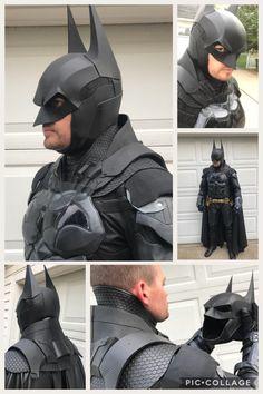 Batman Arkham Knight inspired cowl, neck piece and shoulder piece – Tiger Stone FX Batman Arkham Knight Costume, Batman Armor, Batman Suit, Batman Cosplay, Superhero Cosplay, Im Batman, Batman Cowl, Batman Redesign, Tactical Suit