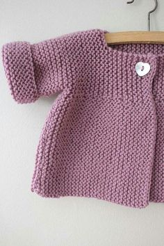 Ideas Crochet Cardigan Pattern Girls Baby Sweaters For 2019 Baby Knitting Patterns, Baby Cardigan Knitting Pattern Free, Knitted Baby Cardigan, Knit Baby Sweaters, Toddler Sweater, Knitting For Kids, Free Knitting, Cardigan Sweaters, Crochet Jacket