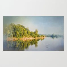 Tennessee River Reflections - Water Landscape Area & Throw Rug by Jai Johnson - $28.00 Tennessee River, Throw Rugs, Landscape, Water, Painting, Art, Water Water, Craft Art, Aqua