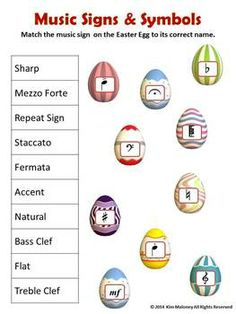 MUSIC: 26 Easter Themed Worksheets        $