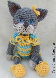 (4) Name: 'Crocheting : Darling Cat Crochet Pattern