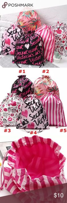 VS Makeup Drawstring Bag Large Drawstring Bag for Make-up, Cellphone, Perfume etc.  When selecting an bag, please pick a number of what bag you would like.  Thanks! PINK Victoria's Secret Bags Cosmetic Bags & Cases