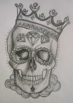 Day Of The Dead Tattoo Designs | Day of the Dead Skulls - kellieslingerland: Sugar Skull Tattoo Design ...