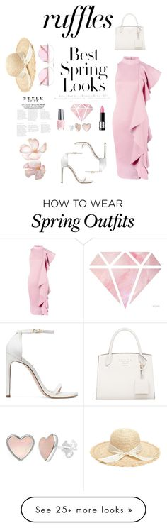 Designer Clothes, Shoes & Bags for Women Oliver Peoples, Opi, Stuart Weitzman, Pretty In Pink, Spring Outfits, Ruffles, Polyvore, How To Wear, Stuff To Buy