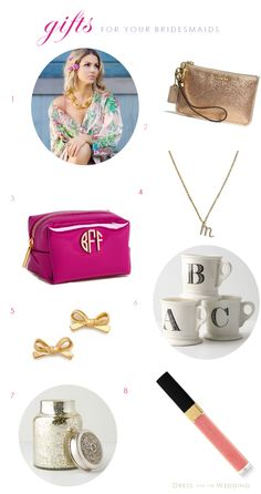 8 Great Bridesmaid Gifts