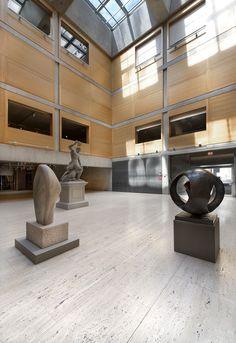 Louis Kahn's Yale Center for British Art Reopens After Restoration,Yale Center for British Art, Entrance Court following reinstallation. Image © Richard Caspole