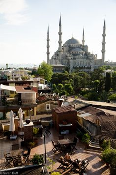 View from Seven Hills Hotel rooftop bar. How to Fit the Best of Istanbul Into Four Days #Turkey