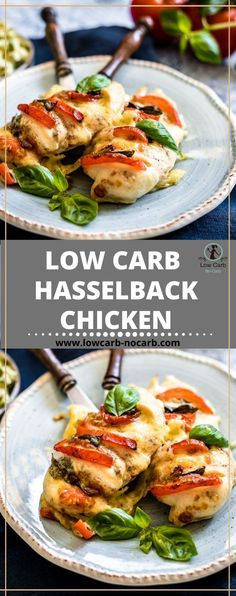 Low Carb Stuffed Caprese Chicken Hasselback Recipe is a great Gluten-gree and Grain-Free dinner option in indulge into. The Italian flair you get with this easy and quick recipe will add a great overall experience. Low Carb Chicken Recipes, Quick Recipes, Healthy Recipes, Keto Recipes, Keto Chicken, Healthy Food, Ketogenic Recipes, Cream Recipes, Turkey Recipes
