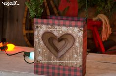 DIY stitched dimensional paper heart gift bag from the new Snowed-In Gift Bags SVG Kit