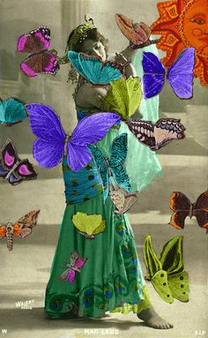 She Dances with Butterflies by Resurrection Rags, via Flickr