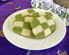Matcha Checkerboard Cookies - Roti n Rice