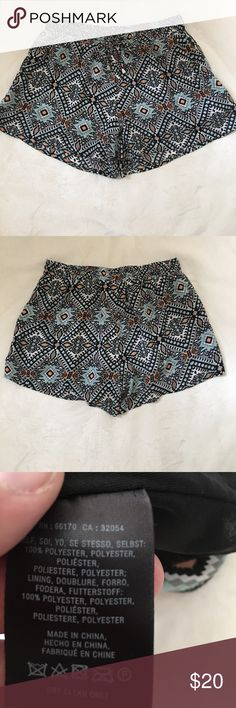 "Anthropologie Shorts Patterned Anthro shorts. Elastic/drawstring waist. Hardly worn. 14"" wide 12"" long Anthropologie Shorts"