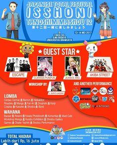 Festival Isshoni Tanoshimimashou 12   13 dan 14 Mei 2017 di Fakultas Ilmu Budaya Universitas Brawijaya Malang Isshoni Tanoshi