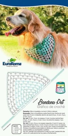 Crochet+ added a new photo. Gilet Crochet, Crochet Dog Sweater, Crochet Granny, Crochet Baby, Crochet For Dogs, Crochet Chart, Crochet Patterns, Large Dog Sweaters, Crochet Dog Clothes