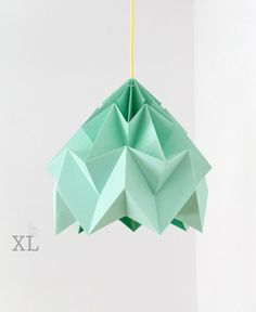 Max bedroom.  XL Moth origami lampshade ice mint by nellianna on Etsy, €139.00
