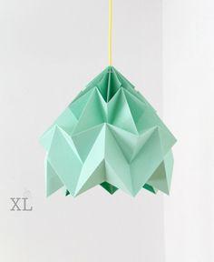 design lamp origami Moth XL ice mint von nellianna auf Etsy