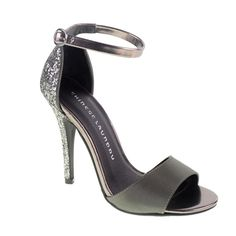 Lucky Charm heel in Gunmetal by #ChineseLaundry. Love the subtle glitter in  the back. Cl ShoesLucky CharmStrap HeelsAnkle ...